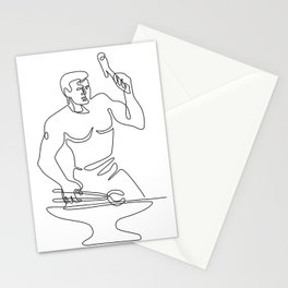 Blacksmith Hammer Continuous Line Stationery Cards