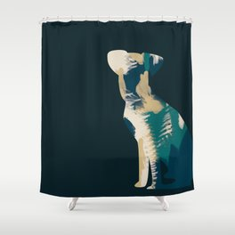 Arty loves art Shower Curtain