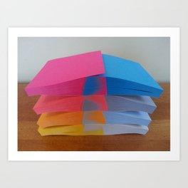 Post-It Aesthetics Art Print