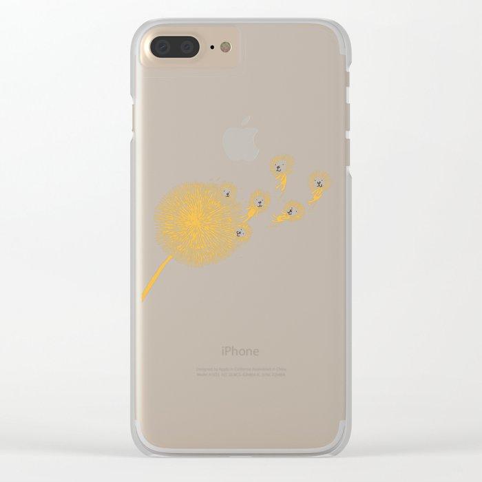 Dande-lions Clear iPhone Case