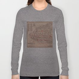 Vintage Map of Charleston South Carolina (1890) Long Sleeve T-shirt