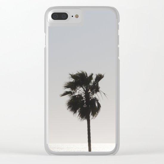 Sun Palm Clear iPhone Case