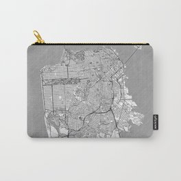 San Francisco Map Line Carry-All Pouch