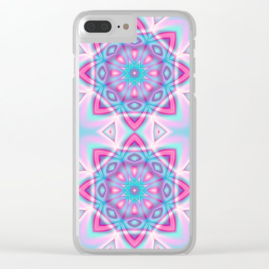 Deco Fantasy star in pastels Clear iPhone Case