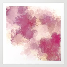 Mauve Dusk Abstract Cloud Design Art Print
