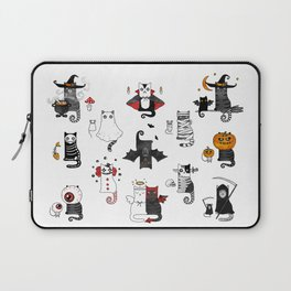 Halloween Cats In Terrible Imagery Laptop Sleeve