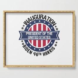 Joe Biden 46th President Inauguration Day 2021 Serving Tray