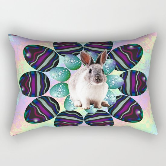 Easter Wreath Rectangular Pillow