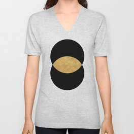 VESICA PISCES CIRCLE ABSTRACT GEOMETRIC SYMBOL Unisex V-Neck