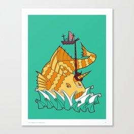 Matsya - The Great Fish Canvas Print