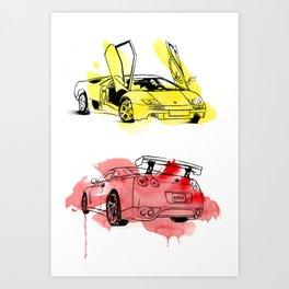 Hawt Cars Art Print