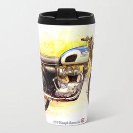 1970 Triumph Bonneville Painting Travel Mug