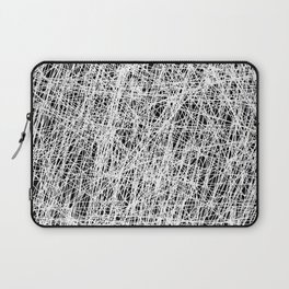 Web Of Confusion - Black and white, abstract painting Laptop Sleeve