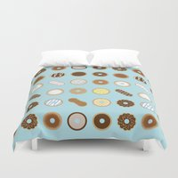 donuts Duvet Covers featuring Donuts by Dorothy Leigh