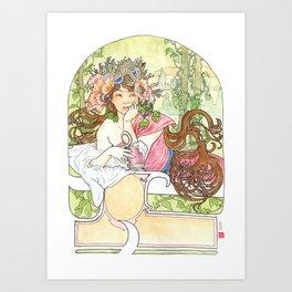 dedicated to Mucha Art Print