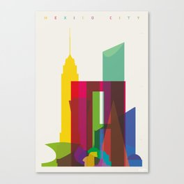 Shapes of Mexico City accurate to scale Canvas Print