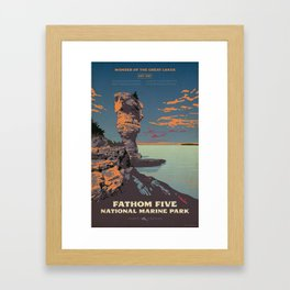Fathom Five National Park Poster (Flowerpot Island) Framed Art Print