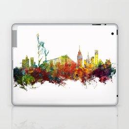 Colored New York City skyline Laptop & iPad Skin