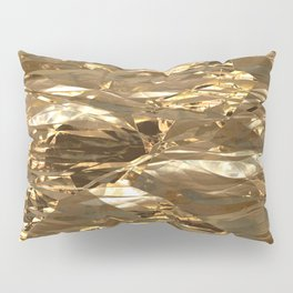 Gold Metal Pillow Sham
