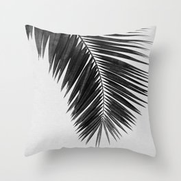 Palm Leaf Black & White I Throw Pillow