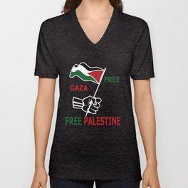 Free Palestine Unisex V-Neck