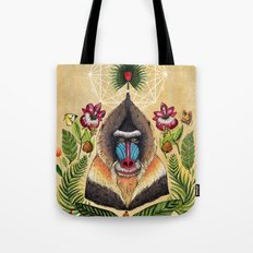 Majestic Mandrill Tote Bag