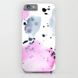 Indigo love || watercolor iPhone Case