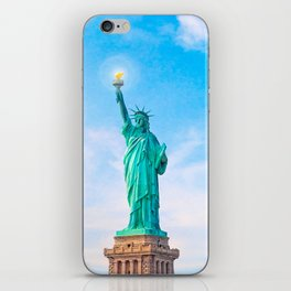 Lamp Beside The Golden Door - Statue Of Liberty iPhone Skin
