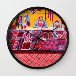 Meat Counter Wall Clock