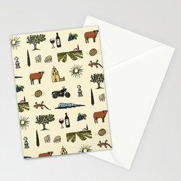 South of France pattern Stationery Cards