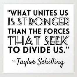 Taylor Schilling Quote Art Print