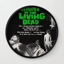 Night of the Living Dead Wall Clock