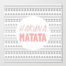 Hakuna Matata II Canvas Print