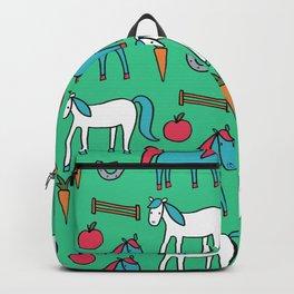 Horses- Aqua Backpack