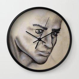 Male Face Light Study Wall Clock