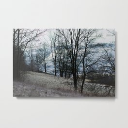 frosty hikes in january Metal Print