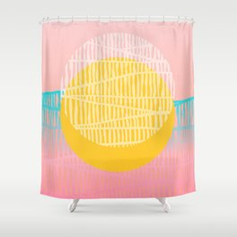 Electric minimal sun Shower Curtain
