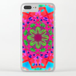 Abstract Flower ZZ WWW AA Clear iPhone Case