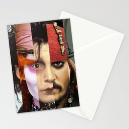 Faces Johnny Depp Stationery Cards