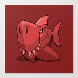 Shark - Chile Oil Red Canvas Print