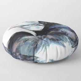 Raven, Watercolor Floor Pillow