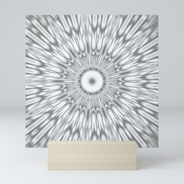 Gray Kaleidoscope Mini Art Print