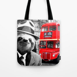 Sloth in London Tote Bag