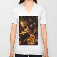 katniss V-neck T-shirts featuring Katniss by tgronberg