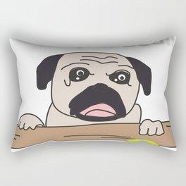 The Pug: Oh My God!! Rectangular Pillow