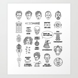 Doctor Who Collective Illustration Art Print
