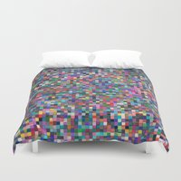 stained glass Duvet Covers featuring stained glass by spinL