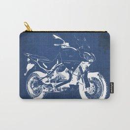 Motorcycle blueprint,2010, Moto Guzzi Stelvio, 1200 4V,poster,man cave decoration,vintage art Carry-All Pouch