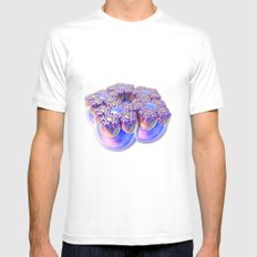 Spheres United / / #fractal #fractals #3d White Mens Fitted Tee MEDIUM