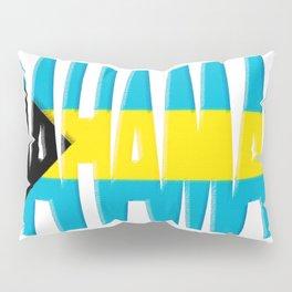 Bahama Font with Bahamian Flag Pillow Sham